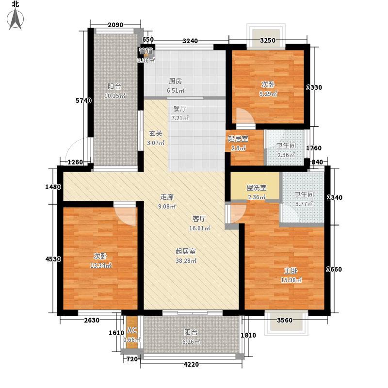 盛宇湖畔122.00㎡3室2厅2卫