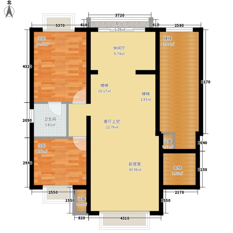 东海福苑B型二层平面布置户型