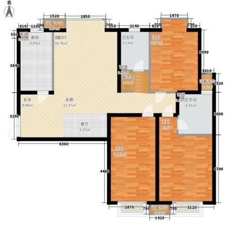 森禾阳光3室1厅2卫1厨178.00㎡户型图