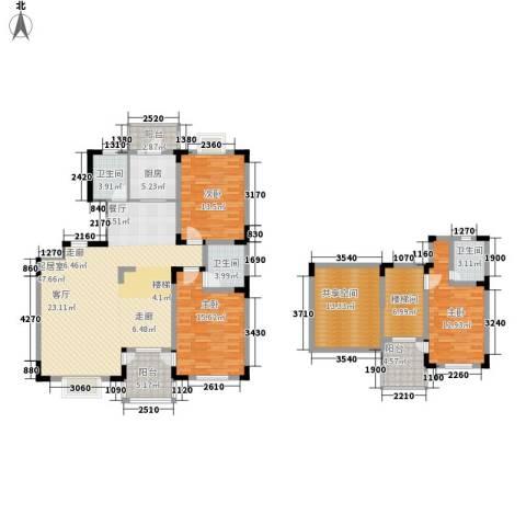 名仕达花园3室0厅3卫1厨203.00㎡户型图