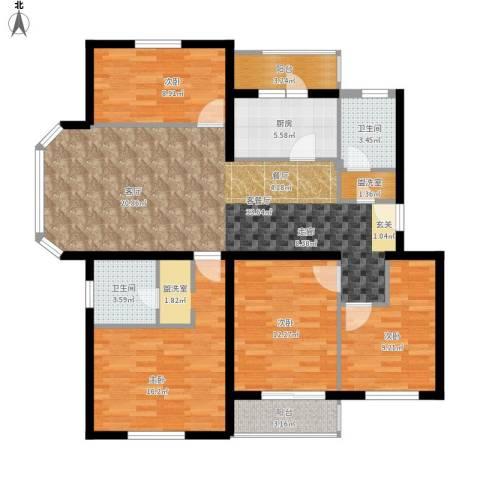 白河涧别墅4室1厅2卫1厨143.00㎡户型图
