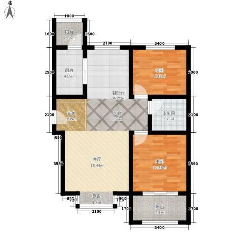 和发紫薇园2室1厅1卫1厨95.00㎡户型图