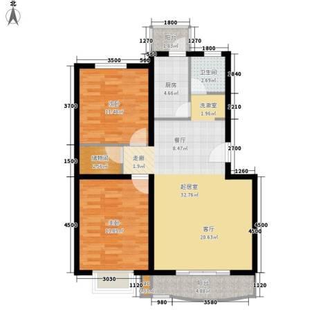 七彩阳光城2室0厅1卫1厨107.00㎡户型图