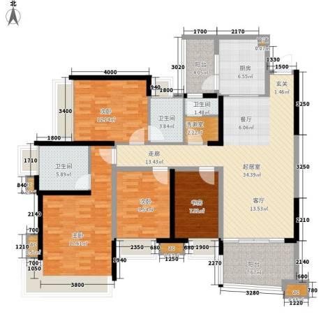 雅居乐国际花园雅郡4室0厅3卫1厨123.00㎡户型图