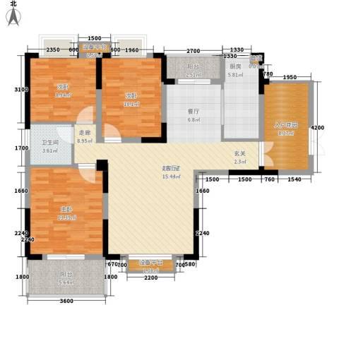 华仪富丽华城3室0厅1卫1厨134.00㎡户型图