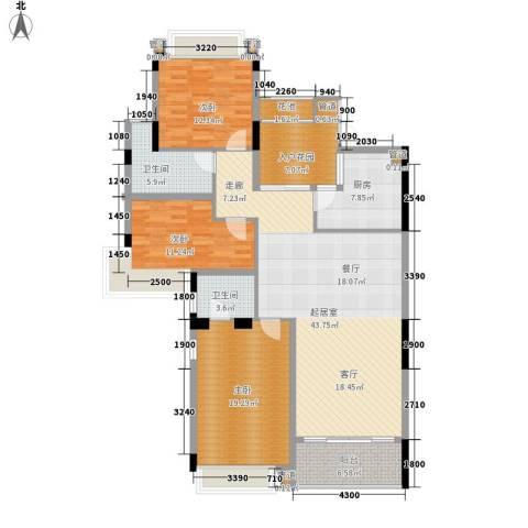 雅居乐国际花园雅郡3室0厅2卫1厨123.00㎡户型图