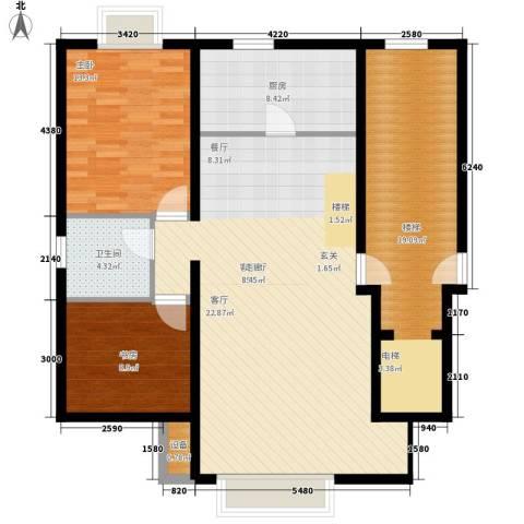 东海福苑2室1厅1卫1厨132.00㎡户型图
