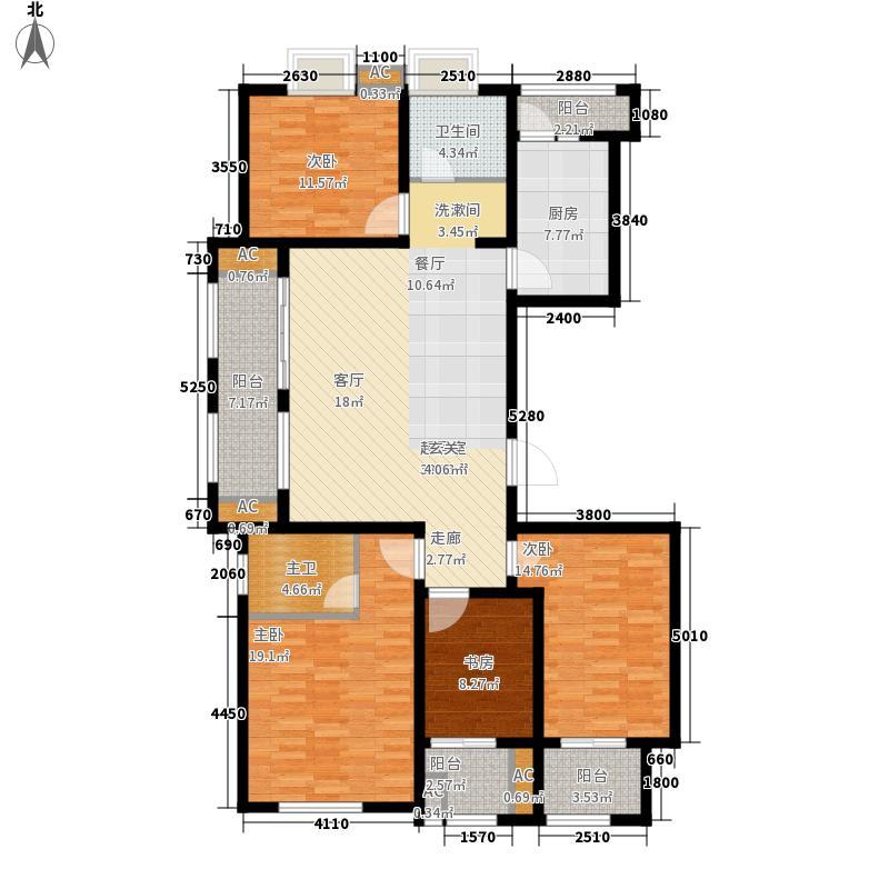 福道家园147.00㎡4室2厅户型4室2厅2卫