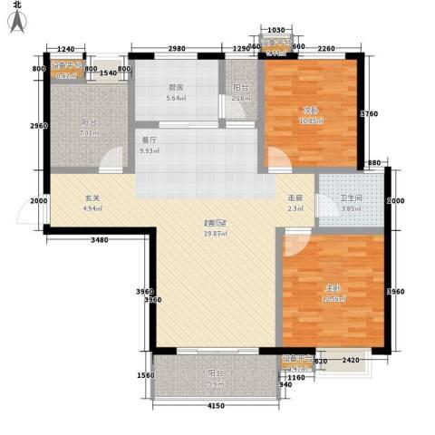 仕方国际2室0厅1卫1厨112.00㎡户型图