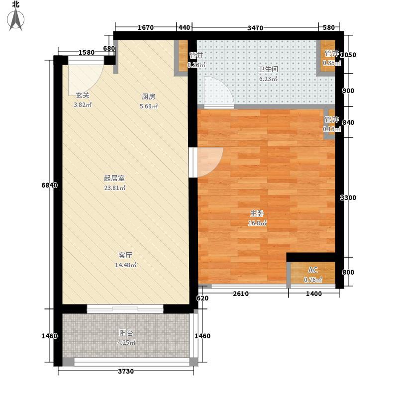 黄山大观59.97㎡小米公寓B1户型
