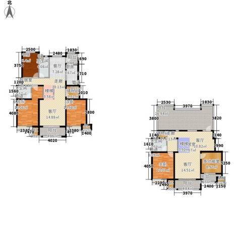 香邑廊桥4室0厅3卫1厨230.00㎡户型图