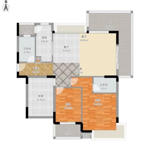 盛地沃尔玛广场2室1厅2卫1厨166.00㎡户型图