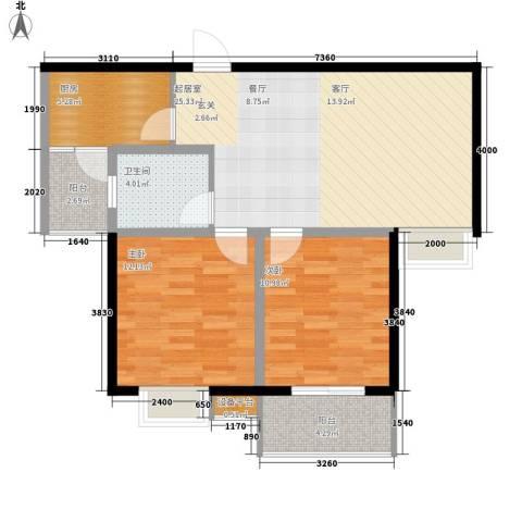 仕方国际2室0厅1卫1厨89.00㎡户型图