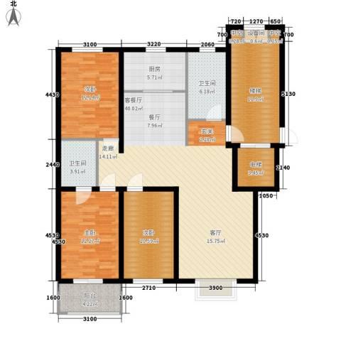 橄榄城3室1厅2卫1厨127.00㎡户型图