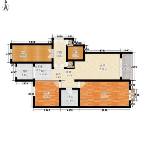 上东阳光2室1厅1卫1厨110.00㎡户型图
