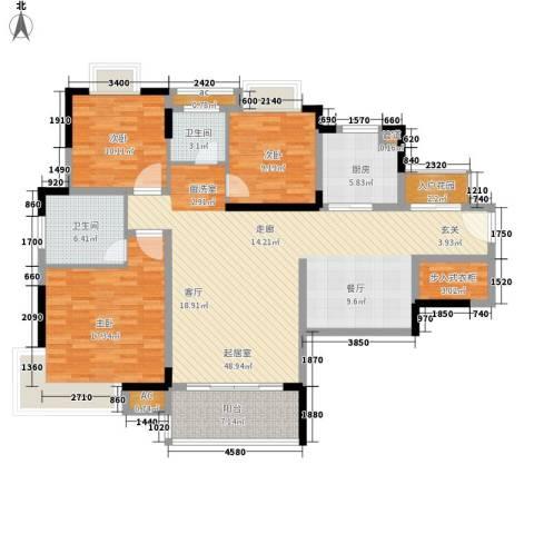 香格里拉3室0厅2卫1厨165.00㎡户型图