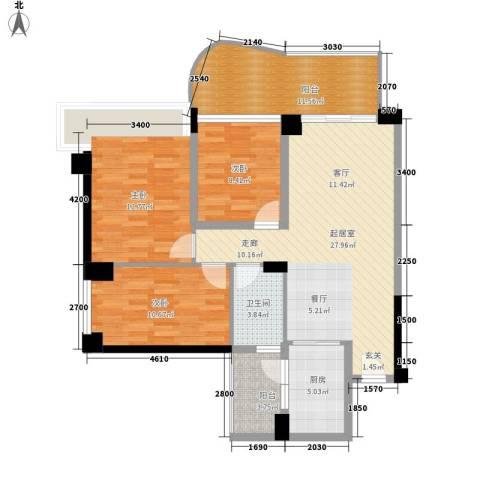 雅居乐花间集3室0厅1卫1厨120.00㎡户型图