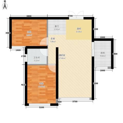 三和翠雍星城2室0厅1卫1厨69.79㎡户型图