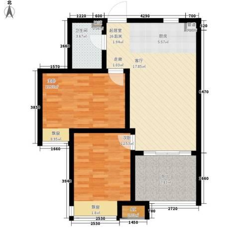 钓鱼台三号院2室0厅1卫0厨93.00㎡户型图