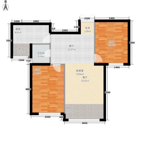 三和翠雍星城2室0厅1卫1厨82.12㎡户型图