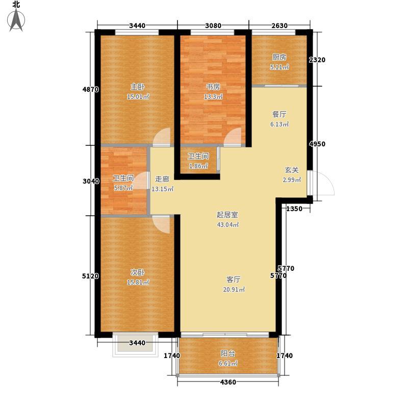 恒盛警苑119.94㎡3室2厅2卫