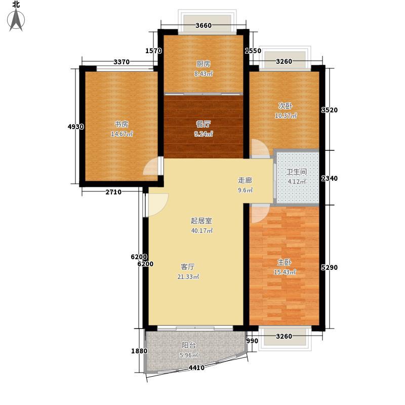 清水湾户型图三室两厅一卫(5/8张)