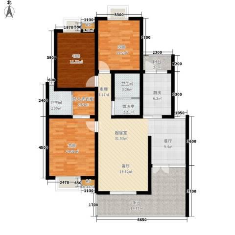 兰亭水云涧3室0厅2卫1厨151.00㎡户型图