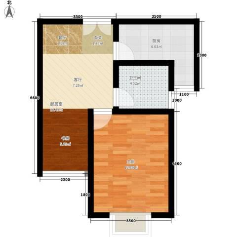 西钦帝景文院1室0厅1卫1厨59.00㎡户型图