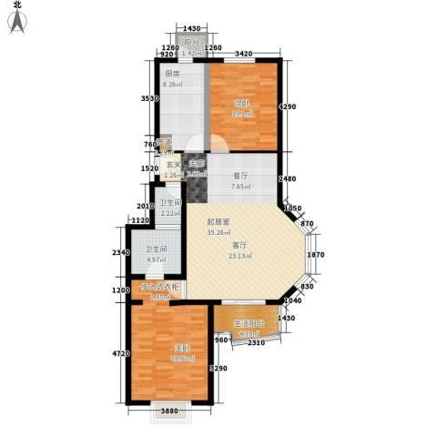 百旺家苑2室0厅2卫1厨100.00㎡户型图