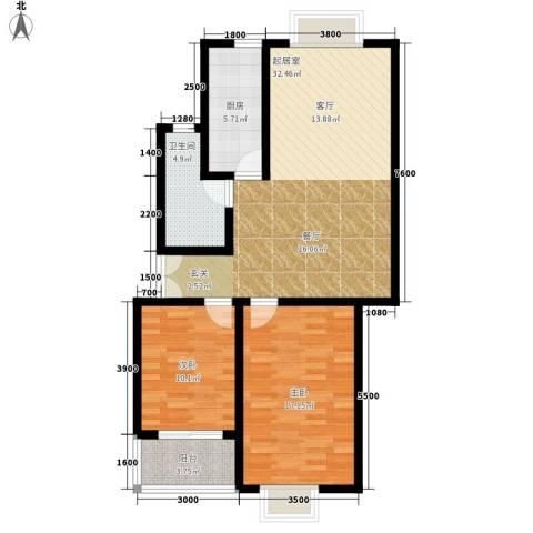 西钦帝景文院2室0厅1卫1厨103.00㎡户型图