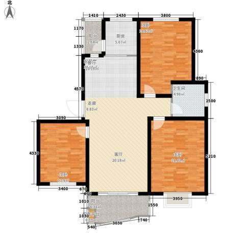 华仪富丽华城3室0厅1卫1厨150.00㎡户型图