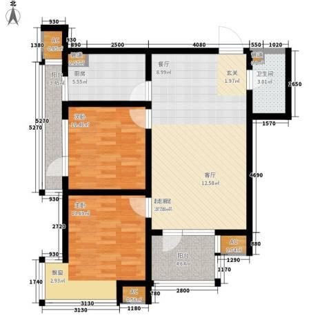 钓鱼台三号院2室0厅1卫1厨104.00㎡户型图