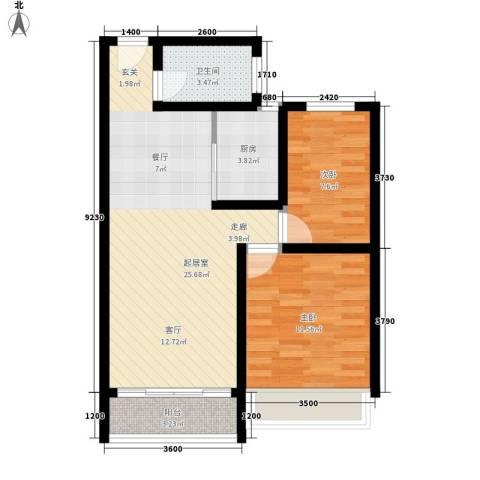 光谷中央城2室0厅1卫1厨79.00㎡户型图