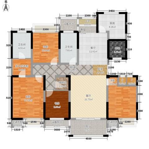 新浪琴湾4室1厅2卫1厨177.00㎡户型图