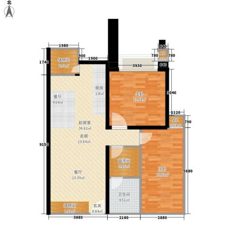 幸福家园2室0厅1卫0厨88.00㎡户型图
