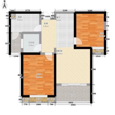 锦业大厦2室0厅1卫1厨108.00㎡户型图