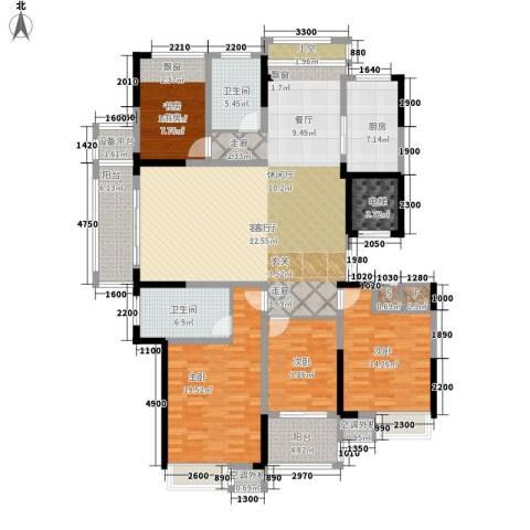 新浪琴湾4室1厅2卫1厨176.00㎡户型图