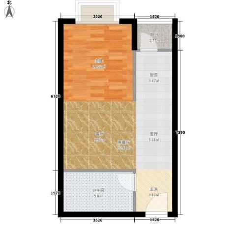 江林新城1厅1卫0厨45.00㎡户型图