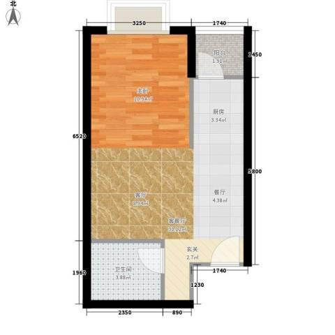 江林新城1厅1卫0厨42.00㎡户型图