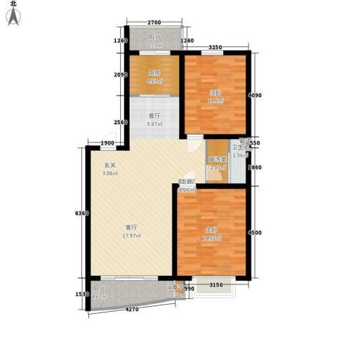 利源幸福�2室1厅1卫1厨102.00㎡户型图