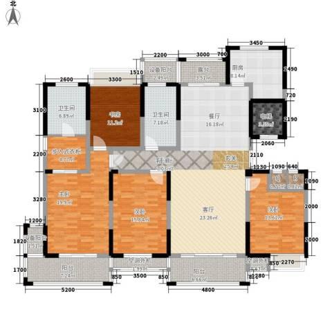 新浪琴湾4室1厅2卫1厨194.00㎡户型图