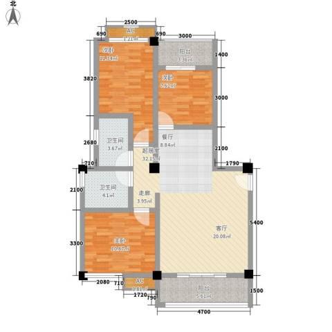 西湖人家3室0厅2卫0厨95.00㎡户型图