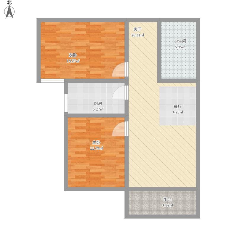 泛华G两室两厅一卫