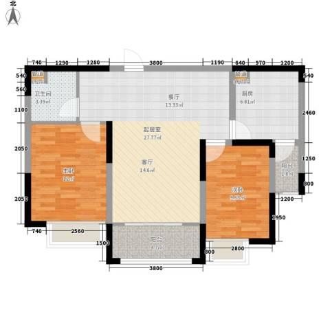 颐和观海2室0厅1卫1厨88.00㎡户型图