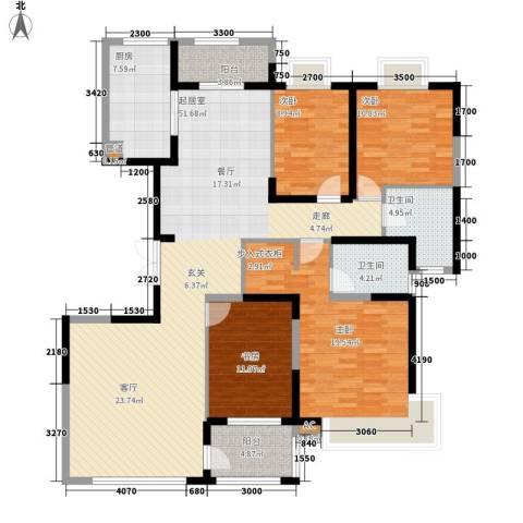 颐和观海4室0厅2卫1厨178.00㎡户型图
