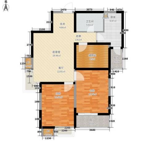 云顶峰尚2室0厅1卫1厨130.00㎡户型图