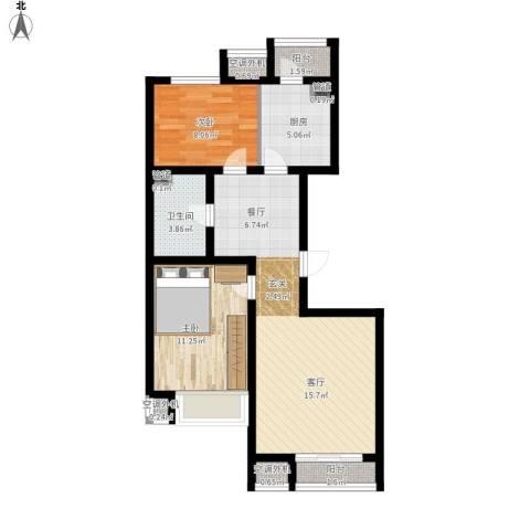 金第梦想山2室1厅1卫1厨86.00㎡户型图