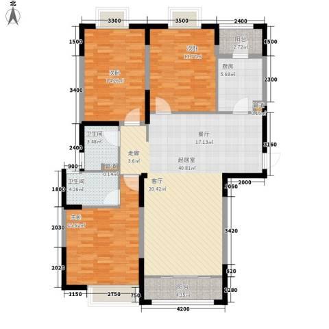 颐和观海3室0厅2卫1厨140.00㎡户型图