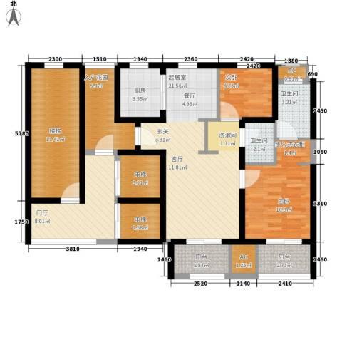 凡尔赛观邸2室0厅2卫1厨100.00㎡户型图