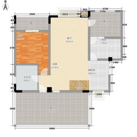 公园一号1室0厅1卫1厨174.00㎡户型图